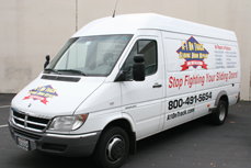 A1 Sliding Door Repair Work Van