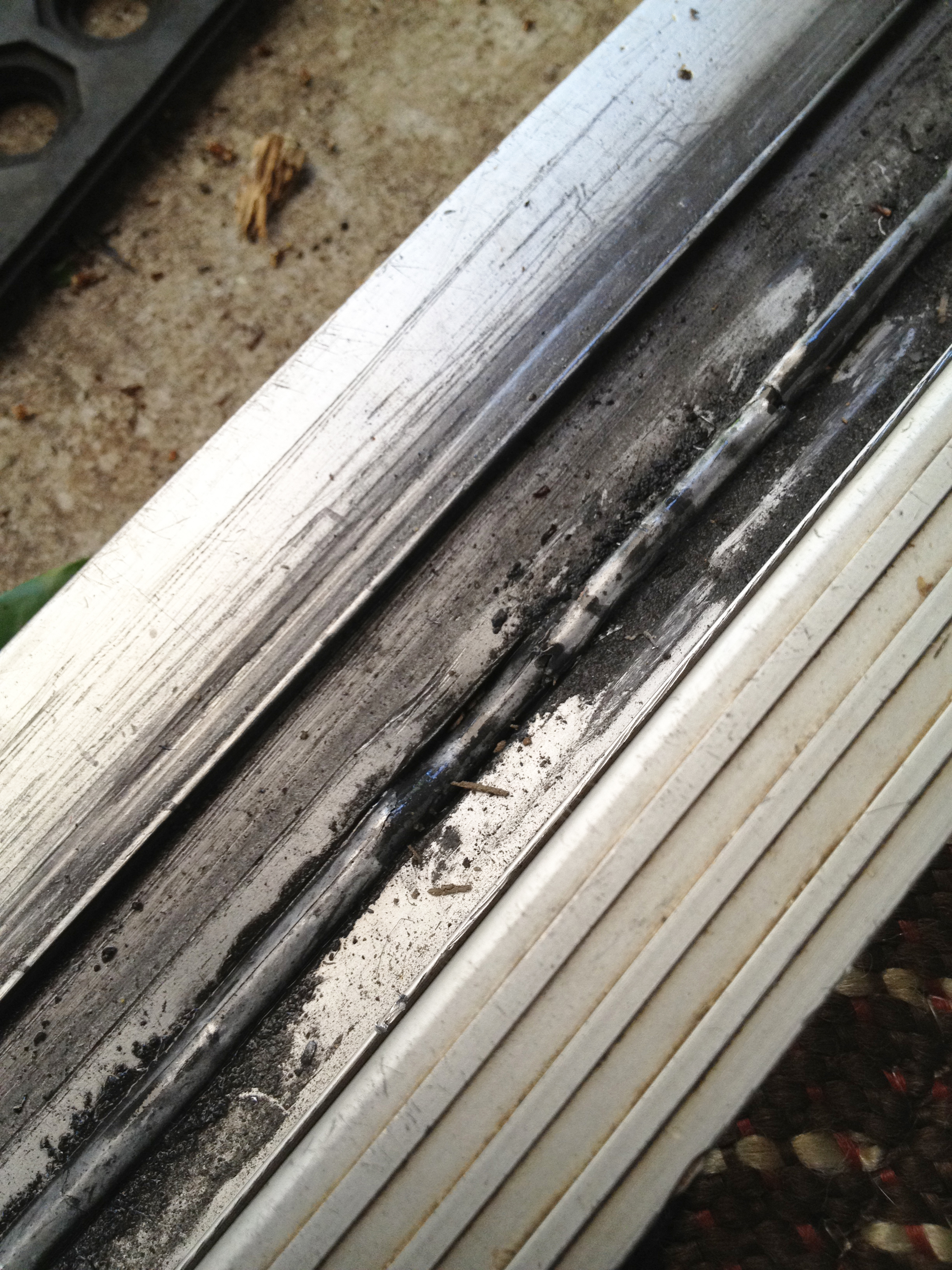 Bottom Track Of A Sliding Glass Door Damaged Beyond Repair Must Be