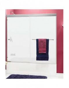 Frameless Shower Door with Euro Towel Bar