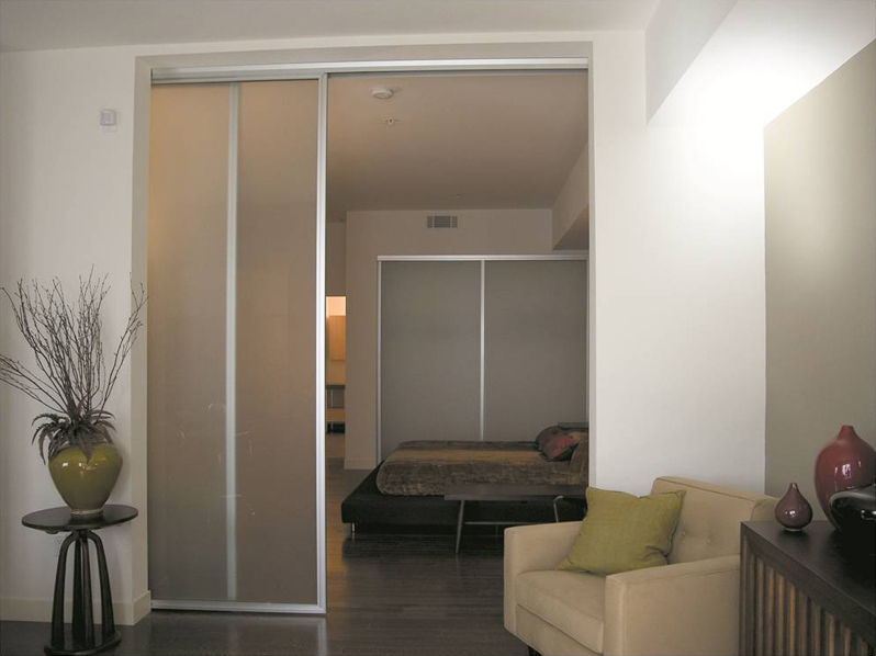 sliding doors between rooms reduce noise