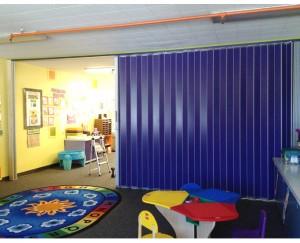 Accordion Doors Break up Spaces