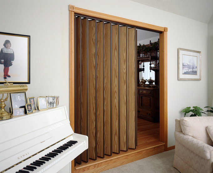 Residential Accordion Folding Door Used as Room Divider & Accordion Doors Sales Repairs Replacement | San Jose San ...