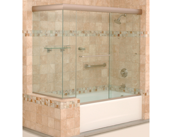 seamless doors glass bathtub frameless made enclosures custom for sliding enclosure surround rimless door shower tub maax